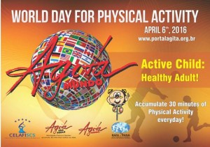 World Day for Physical Activity 2016 6 April Postcard AgitaMundo